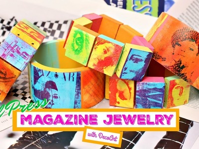 HOW TO: Gel Press Pop Art Jewelry