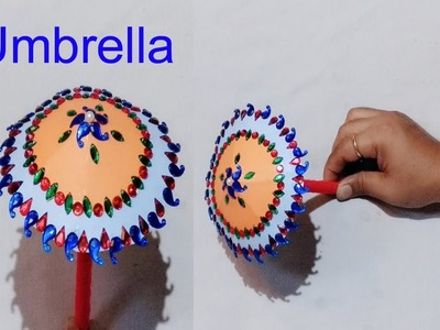 How to make Umbrella for Ganesh.Ganesh chaturthi special diy.paper craft idea.Art Gallery