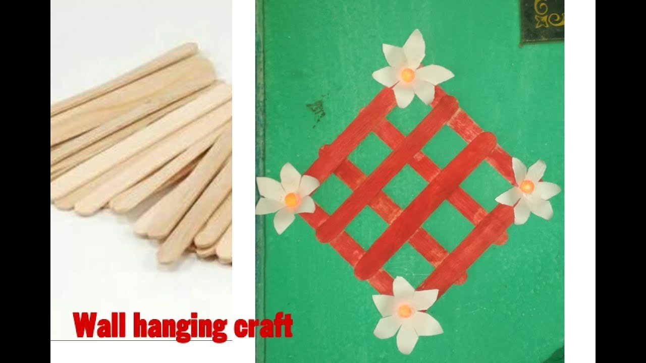 Ice Cream Sticks Wall Hanging Craft Popsicle Craft Very Simple