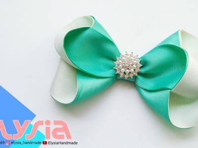Laço Renata II ???? Ribbon Bow ???? DIY by Elysia Handmade