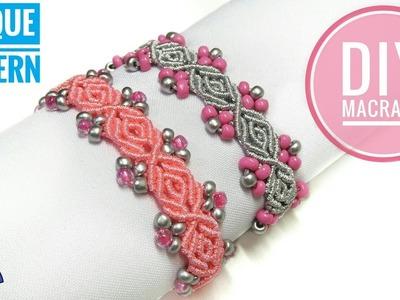Macrame Bracelet with Beads Tutorial | UNIQUE Macrame PATTERN by Macrame Magic Knots