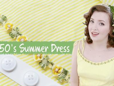 Making a Yellow 1950's Dress : Sewing Vlog
