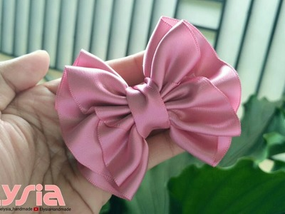 New laço Helena Satin Ribbon 38mm ???? Ribbon Bow ???? DIY by Elysia Handmade