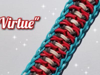 """New """"Virtue"""" Rainbow Loom Bracelet Tutorial"""