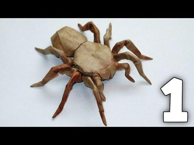 Origami 8 Legged Tarantula Tutorial (Robert Lang) Part 1.2