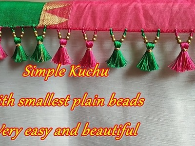 Saree Kuchu.tassel using smallest plain beads- tips and tricks for beginners