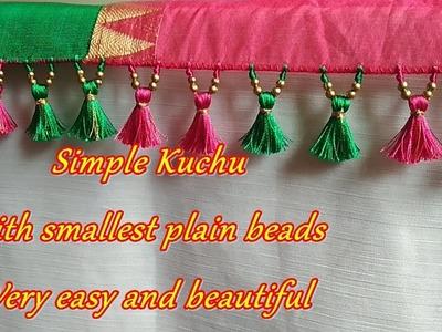 Saree Kuchu.tassel using smallest plain beads- tips and tricks for beginners