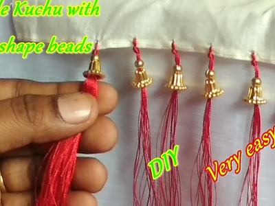 Saree Kuchu.tassel with bell shape beads