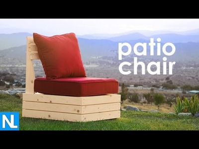 Secret storage  Patio Chair  | DIY woodworking - how to make a patio chair
