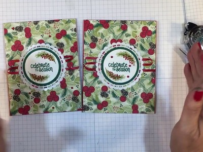 Stampin' Up! 2018 Christmas Cards in July - Merry Mistletoe Card