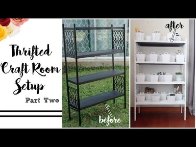 THRIFTED CRAFT ROOM | SETUP | PT. 2