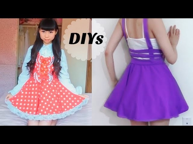 2 DIY Summer Dresses: DIY Cage Skirt + DIY Dolly Dress ( Re-uploaded)