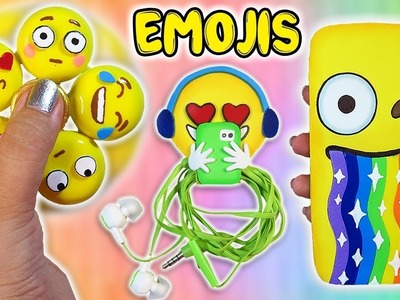 3 DIY Emoji Projects You NEED To Try! Phone Case, Earphones Holder, Fidget Spinner