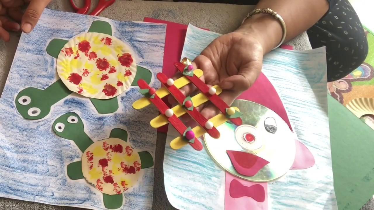 3 Easy Step By Step Summer Crafts Tutorial For Little Kids   Satvik Zindagi