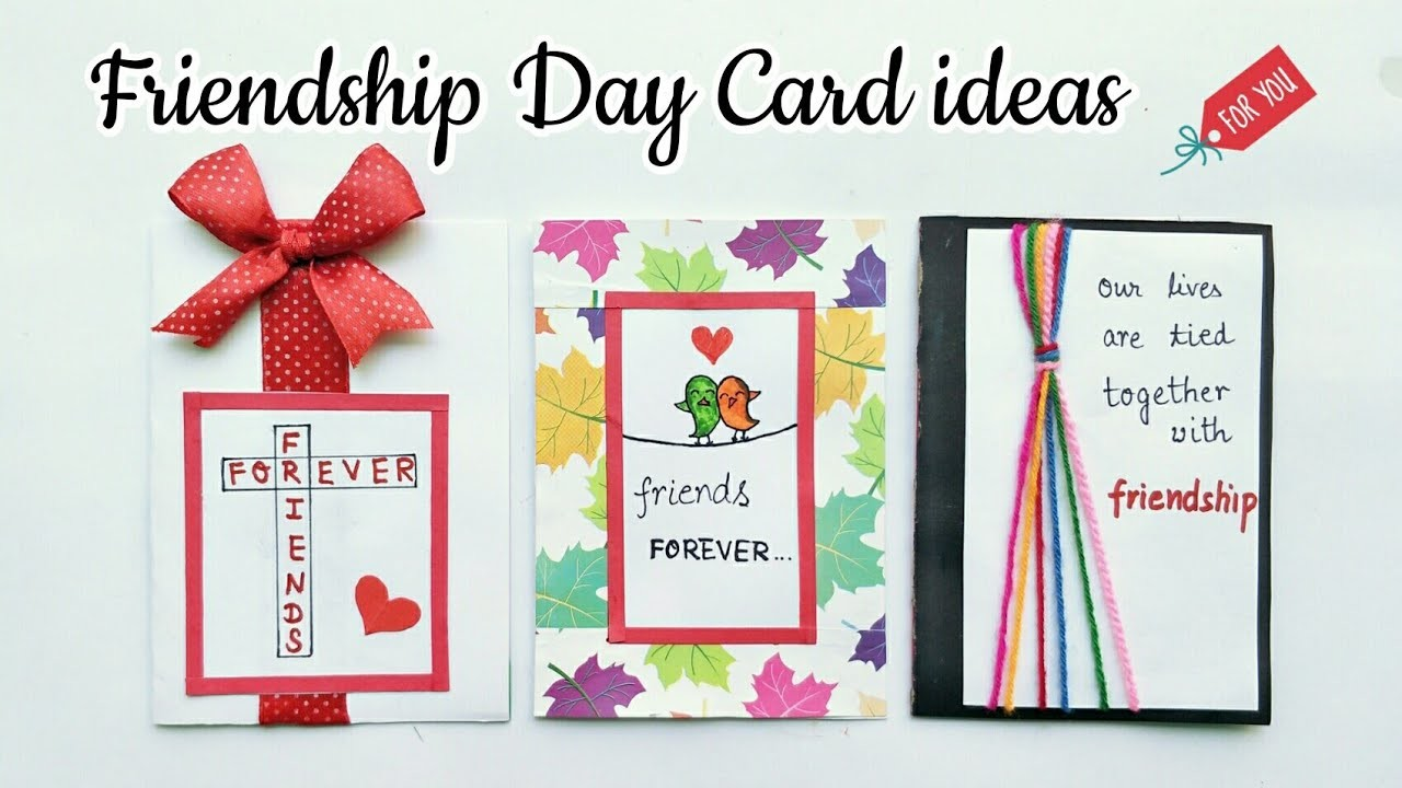 3 Special Card for Friendship Day.Handmade Card for Friends.Simple and Easy Friendship Day Card idea