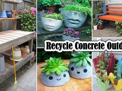 50 Ways to Recycle Concrete Outdoor   DIY Garden