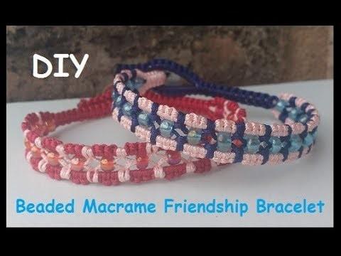 Beaded Centre Macrame Friendship Bracelet Tutorial