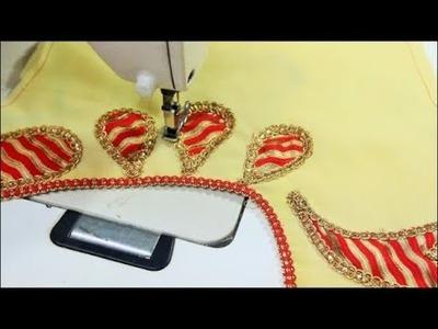 Designer Neckline For Chiffon  Saree (DIY)