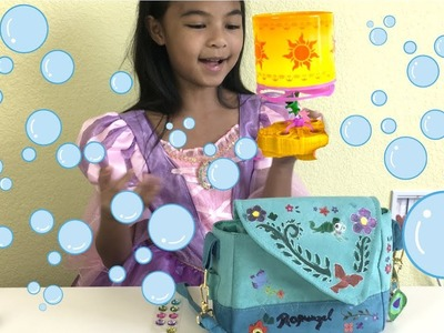 Disney Princess Rapunzel DIY Adventure Bag + Bubble Lantern Launcher | Toys Academy