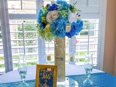 DIY Bling Wedding Centerpiece | DOLLAR TREE