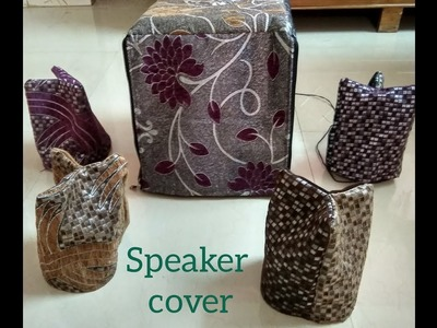 DIY covers for speaker to sew easily at home.
