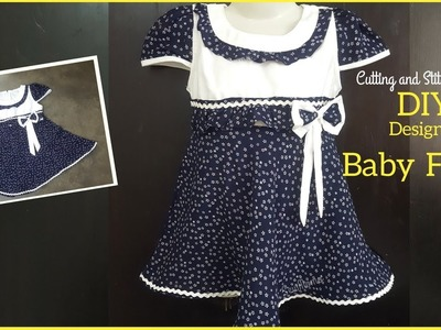 DIY DESIGNER BABY FROCK | 3 year baby frock Cutting and Stitching