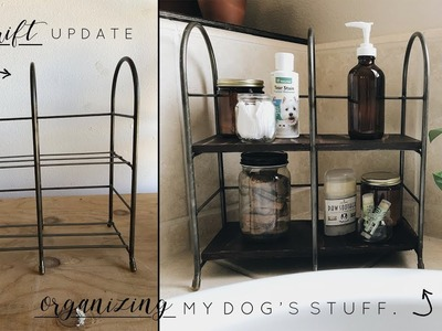 DIY Dog Organization + Easy Thrift Update