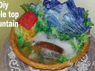 DIY fountain    How to make a table top fountain at home easy process