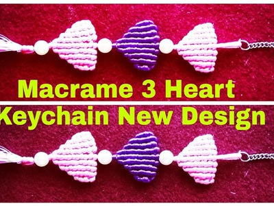 DIY.Macrame Simple Key Chain. In a Heart Shape New Design ????