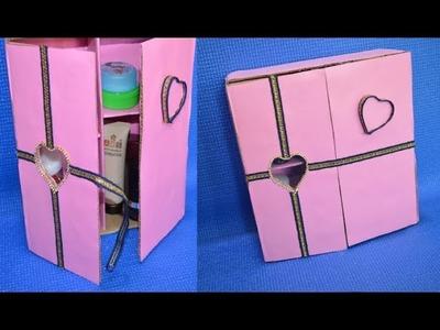 #DIY #Mini #Cupboard From #Waste #Cardboard | #Best Out Of Waste Cardboard Box | Eshanya Arts