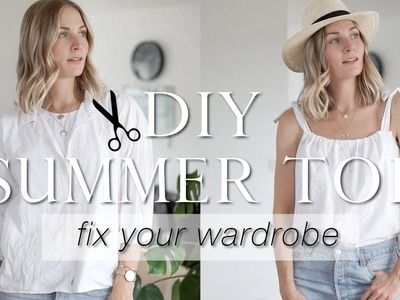 DIY summer top from old shirt | Fix your wardrobe series