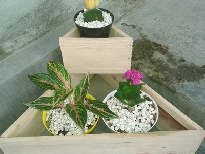 DIY Wooden Stacking Planter - Triangular Planter Box - Recycle Wood Part 1