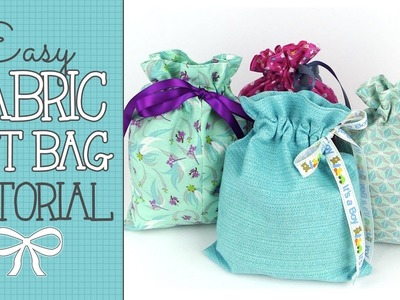 Drawstring Fabric Gift Bag Tutorial - Quick & EASY Scrap Buster
