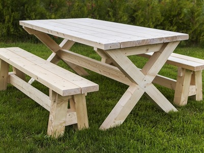 Easy DIY Project: Farmhouse Table and Benches