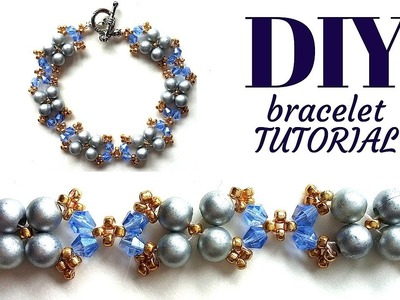 Elegant design for a beaded bracelet. Bracelet making tutorial