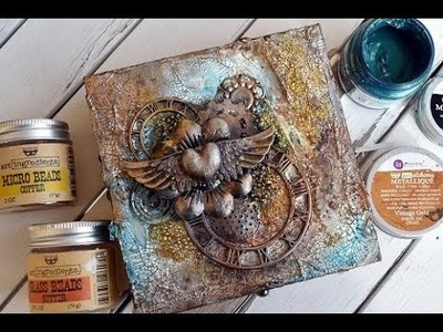 Giftbox  Art Alchemy Paint and Waxes  Tutorial