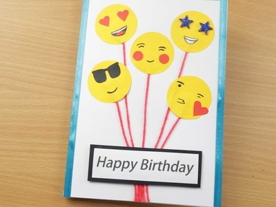 Handmade Birthday card.Birthday Balloon Pop Up Card.Birthday Greeting Card Ideas.Cute Birthday Card