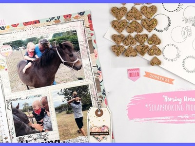 """Horsing Around"" ~ Scrapbooking Process Video + + + INKIE QUILL jpg"