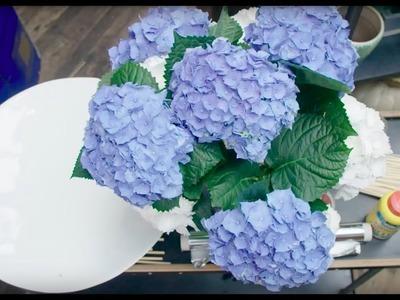 Hortensia bouquet in frame | Flower Factor tutorial | Powered by Hydrangea World