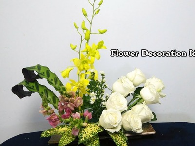 HOW TO Arrange Flowers DIY Oncidium, Rose Fresh Flower?Flower Ideas 68