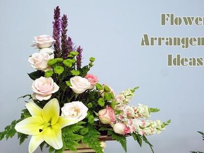 HOW TO Arrange Flowers DIY Liatris spicata,Rose flower,Green Calimero?