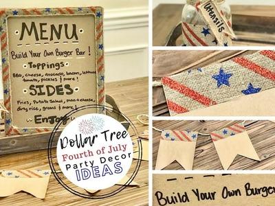 July 4th Party Decor Ideas ????????   Dollar Tree DIY   Rustic Decor   Ashleigh Lauren