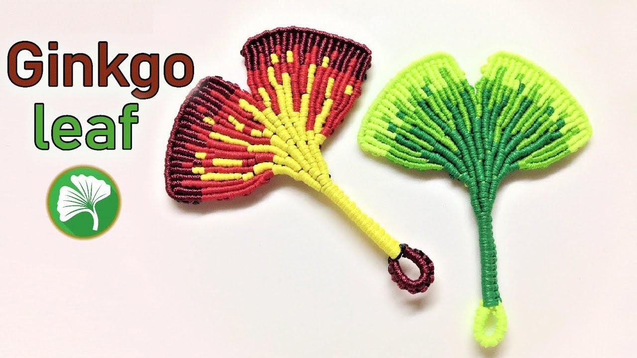 Macrame tutorial - The most beautiful Ginkgo leaf keychain  - Hướng dẫn làm móc khóa lá bạch quả