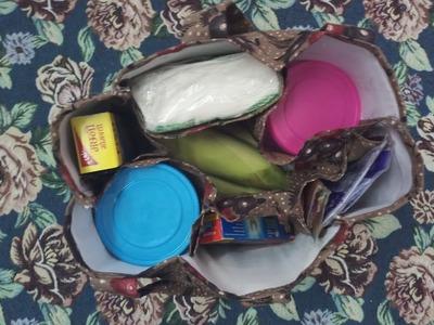 Market Bag With 6 Compartments (Pockets)   SMB Hunar  DIY