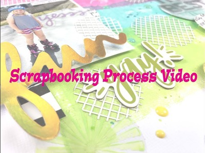 """Scrapbooking Process #160- """"The Best"""" for Hip Kit Club"""