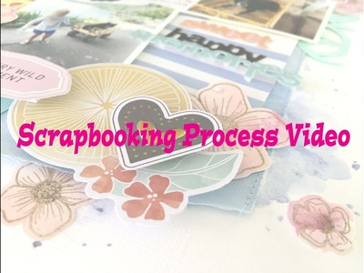 "Scrapbooking Process #168- ""Sweet Happy Memories"" for Hip Kit Club."