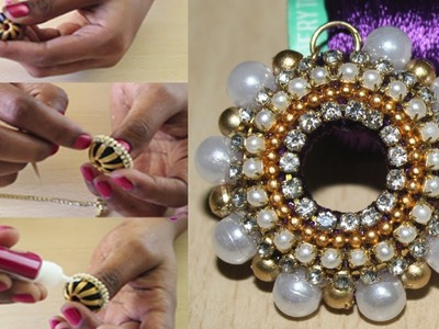 Simple  Silk Thread Jhumkas made at home || Silk Thread Jhumkas Earrings || DIY