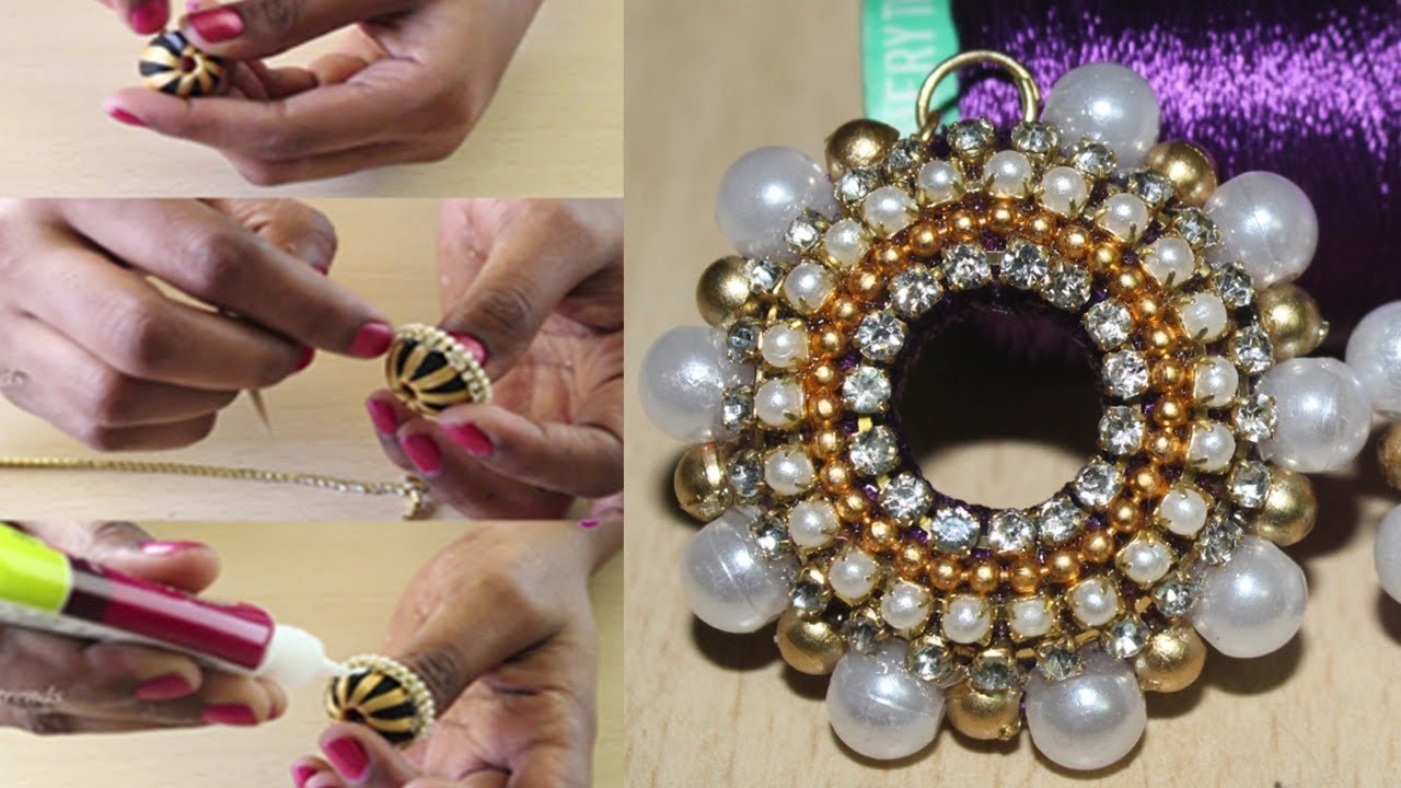 Simple  Silk Thread Jhumkas made at home || Silk Thread Jhumkas Earrings || DIY