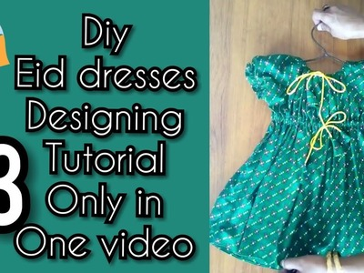 Summer eid frocks designing | 13 diffrent kids frock designing tutorial all in one video