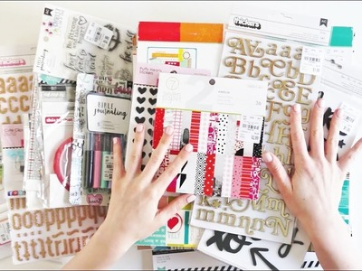 Tuesday Morning Scrapbooking Haul with Maggie Holmes, Amy Tangerine, Thickers, and Bible Journaling